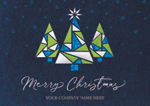 Stained Glass Trio Christmas Cards